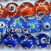 Evil Eye Lampwork Beads, Round, more colors for choice, Sold By PC