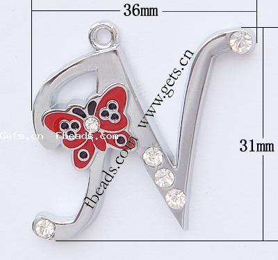 N Alphabet Design Zinc Alloy Alphabet Pendants
