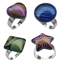 Dichroic Glass Finger Ring