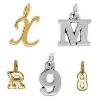 Zinc Alloy Alphabet Pendants