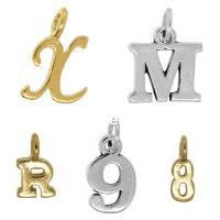 Zinc Alloy Alphabet Pendants