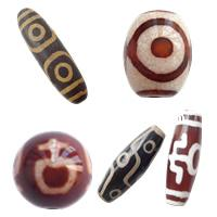 Natural Tibetan Agate Dzi Beads
