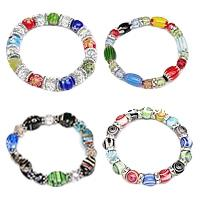 Millefiori Glass Jewelry Bracelet