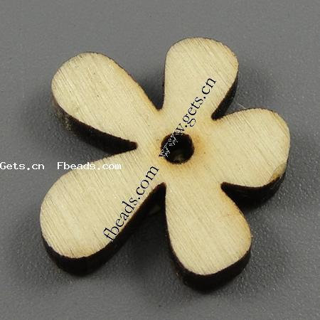 Dyed Wood Beads, Flower, matte, more colors for choice, nickel, lead & cadmium free, 21x3mm, Hole:Approx 2mm, Sold By PC