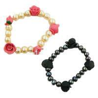 Polymer Clay Pearl Bracelets