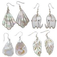 Silver Plated Shell Earring