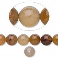 Natural Wooden Agate Beads