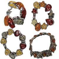 Zinc Alloy Imitation Amber Bracelets