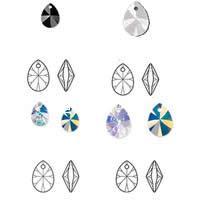 CRYSTALLIZED™ Elements #6128 Crystal Xilion Pear Pendants