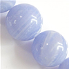 Natural Lace Agate Beads, Round, synthetic, different size for choice, water blue, Length:15.5 Inch, Sold By Strand