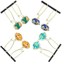 Lampwork Cage Earring