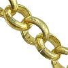 Brass Rolo Chain, Donut, plated, more colors for choice, cadmium free, Length:100 m, Sold By Lot