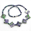 Gemstone Necklaces, Rain Flower Stone, 20x19x7mm, 5mm, Length:Approx 17 Inch, Sold By Strand