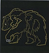 Rhinestone Hot Fix Motif, Animal, Grade AA, 265x175mm, Sold By PC