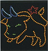 Rhinestone Hot Fix Motif, Animal, AA Grade, 265x175mm, Sold By PC