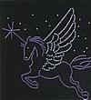 Rhinestone Hot Fix Motif, Sagittarius, Grade AA, 265x175mm, Sold By PC