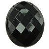 Solid Black Acrylic Beads, Oval, faceted & solid color, more colors for choice, 10.5x13x7mm, Hole:Approx 0.5mm, Approx 915PCs/Bag, Sold By Bag