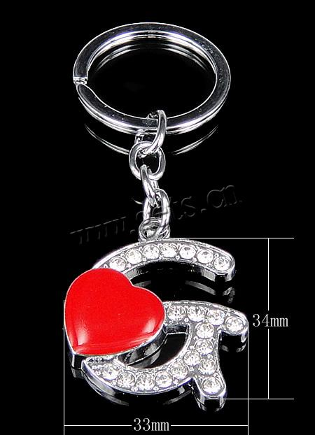 Zinc Alloy Letter Key Chain   G Letter In Heart