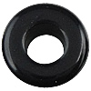 Solid Black Acrylic Beads, Drum, solid color, more colors for choice, 12x8mm, Hole:Approx 5mm, Approx 695PCs/Bag, Sold By Bag