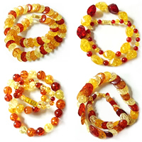 Imitate Amber Necklace