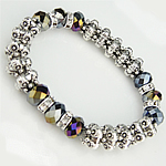 Crystal Bracelets, with Zinc Alloy, lead free, 8-9mm, Length:7.5 Inch, Sold By Strand