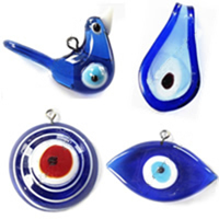 Evil Eye Lampwork Pendants