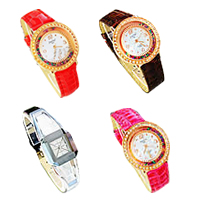 Zinc Alloy Leather Watch