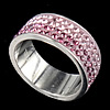 Rhinestone Stainless Steel Finger Ring, with Mideast rhinestone, 8mm, Hole:Approx 17mm, Size:6.5, Sold By PC