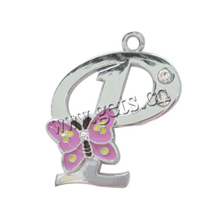 P Alphabet Design Zinc Alloy Alphabet Pendants