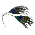 Fashion Feather Earring , iron earring hook, 30x80mm, 120Pairs/Bag, Sold By Bag