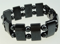 Hematite Bracelet, different styles for choice, Grade A, 10x18mm, Length:7.5 Inch, Sold By Strand