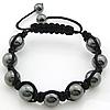 Hematite Shamballa Bracelets, with Nylon Cord, handmade, Length:7-10 Inch, Sold By Strand