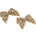 Ribbon Bow, with round spot pattern, 29x18mm, 100PCs/Bag, Sold By Bag