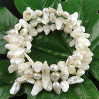 Freshwater Pearl Bracelet, 8-12mm, Length:7.5 Inch, Sold By Strand