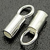 Sterling Silver End Caps, 925 Sterling Silver, Tube, plated, more colors for choice, 2.1x6.8mm, 1.6mm, Hole:Approx 2.3mm, 100Pairs/Bag, Sold By Bag