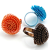 Dandelion Iron Finger Ring, adjustable, more colors for choice, Hole:Approx 17mm, Size:6.5, Sold By PC
