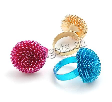 Dandelion Iron Finger Ring, adjustable, more colors for choice, 20x20mm, Hole:Approx 17mm, Size:6.5, Sold By PC