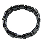 Hematite Bracelet, different styles for choice, Grade A, 13x7.5x6mm, Length:7.5 Inch, Sold By Strand