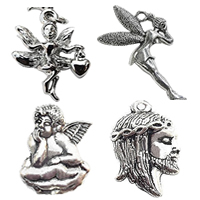 Character Shaped Zinc Alloy Pendants
