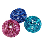 Aluminum Mesh Beads, Drum, electrophoresis, mixed colors, 12x10mm, Hole:Approx 5mm, Sold By PC
