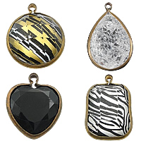 Acrylic Brass Pendants