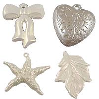 Imitation Pearl Acrylic Pendants