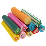 Ploymer Clay Cane, Polymer Clay, handmade, mixed, 4-7x50mm, 100PCs/Bag, Sold By Bag