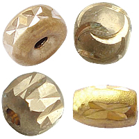 Brass Diamond Cut Beads