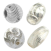 Sterling Silver Diamond Cut Beads
