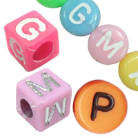 Plastic Alphabet Beads