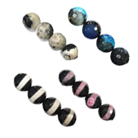 Natural Two Tone Agate Beads