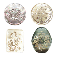 Decal Shell Pendants