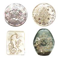 Decal Shell Pendants