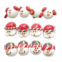 Christmas Polymer Clay Beads
